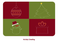 Happyholidays1 Greeting Card (4x55)